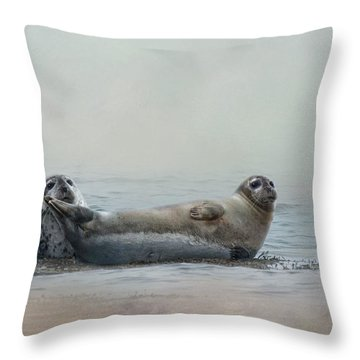 Throw Pillow featuring the photograph Curious Onlookers by Robin-Lee Vieira