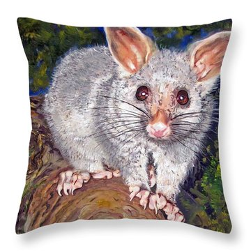 Curious Possum  Throw Pillow