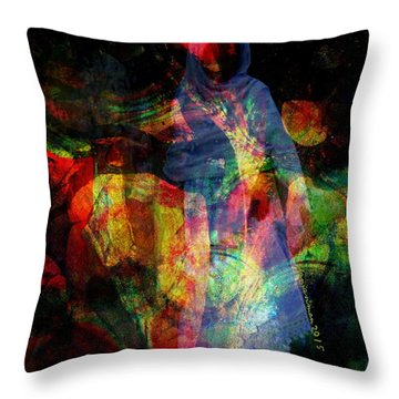 Curious Spirit Throw Pillow by Fania Simon