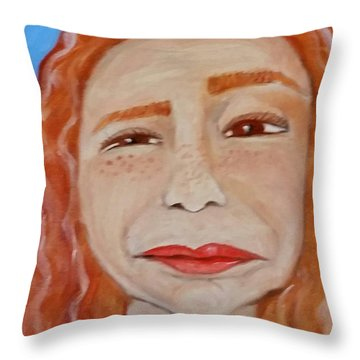 Curiously Questionable  Throw Pillow
