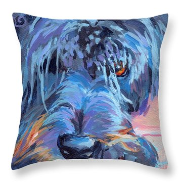 Curl Throw Pillow by Kimberly Santini