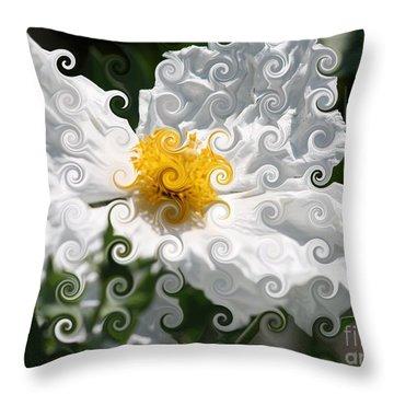 Curlicue Fantasy Bloom Throw Pillow