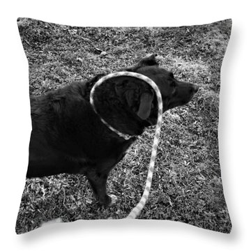 Curling Throw Pillow by Jeanette O'Toole