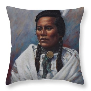 Throw Pillow featuring the painting Curly  by Harvie Brown