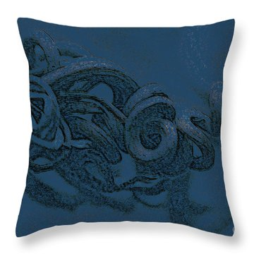 Throw Pillow featuring the digital art Curly Swirly by Kim Henderson