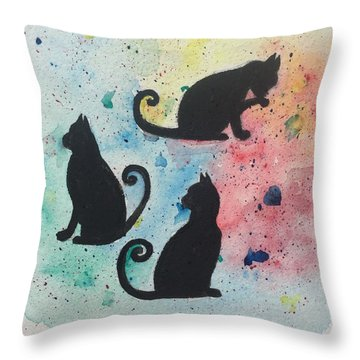 Curly Tails Throw Pillow