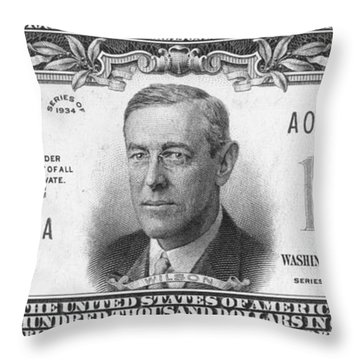 Currency: 100,000 Dollar Bill Throw Pillow