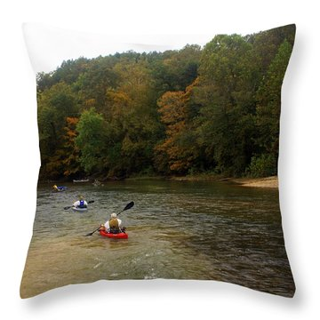 Current River 3 Throw Pillow by Marty Koch