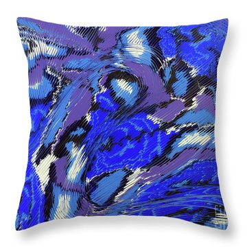 Currents And Tides  Throw Pillow by Cathy Beharriell