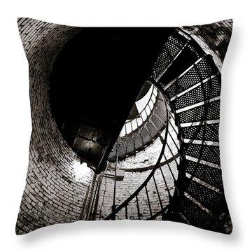 Currituck Spiral II Throw Pillow