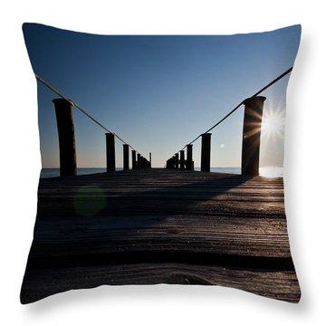 Currituck Sunset Throw Pillow