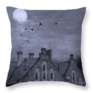 Throw Pillow featuring the photograph Curse Of Manor House by Juli Scalzi