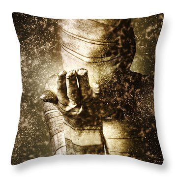 Curse Of The Mummy Throw Pillow