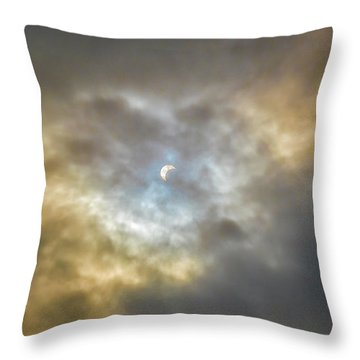 Curtain Of Clouds Eclipse Throw Pillow