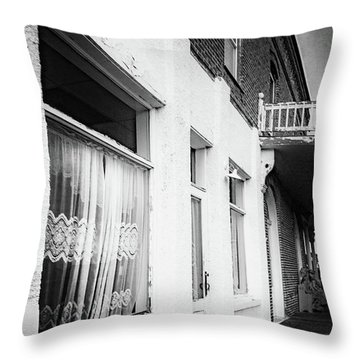 Throw Pillow featuring the photograph Curtains by Cat Connor