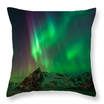 Curtains Of Light Throw Pillow