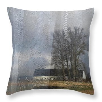 Curtains Of The Mind Throw Pillow