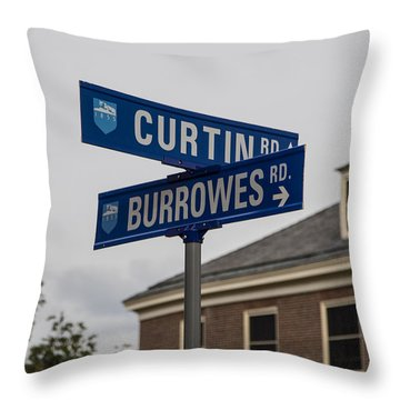 Curtin And Burrowes Penn State  Throw Pillow by John McGraw