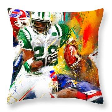 Curtis Martin New York Jets Throw Pillow