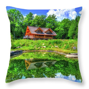 Curtis Vance Memorial Apple Orchard Throw Pillow by Jim Boardman