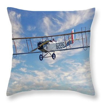 Curtiss Jn-4h Biplane Throw Pillow by Jerry Fornarotto