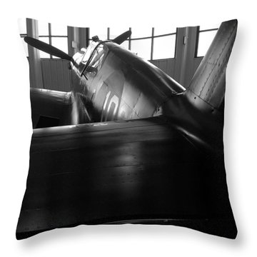 Curtiss P-40 Throw Pillow by Rebecca Davis