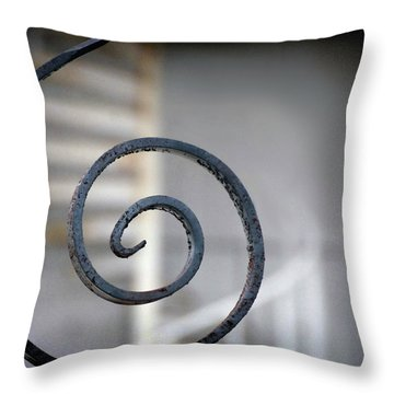 Curve Of Iron Throw Pillow