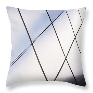 Curve Of The Cone Throw Pillow by Martin Cline
