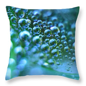 Curve Of The Web Throw Pillow