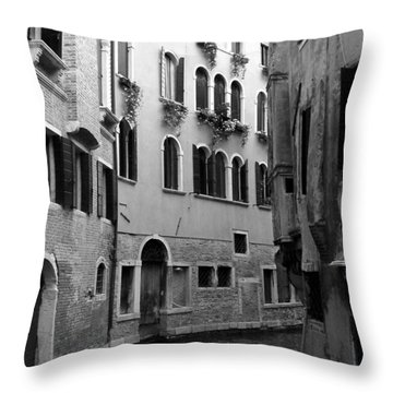 Curved Canal Throw Pillow