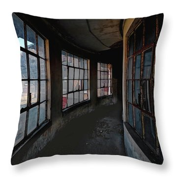 Throw Pillow featuring the photograph Curved Hallway by Tom Singleton