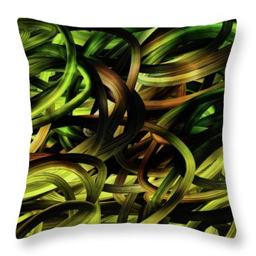 Curves 1 Throw Pillow