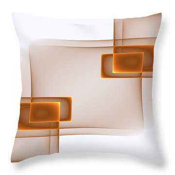 Curves Abstract 001 Throw Pillow
