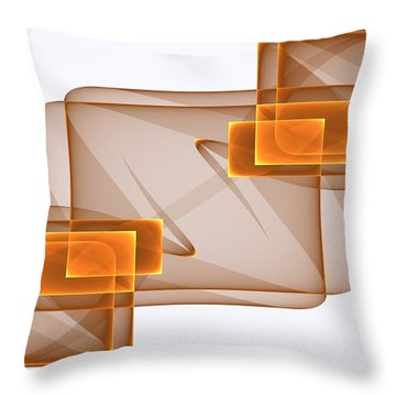Curves Abstract 002 Throw Pillow