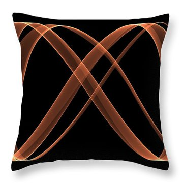 Curves Abstract 005 Throw Pillow