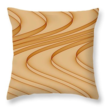 Curves Abstract 006 Throw Pillow