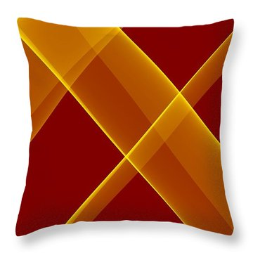Curves Abstract 007 Throw Pillow