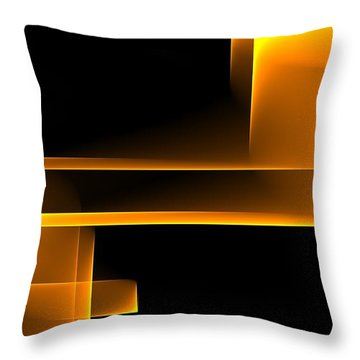Curves Abstract 008 Throw Pillow