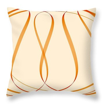 Curves Abstract 011 Throw Pillow