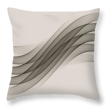 Curves Abstract 012 Throw Pillow
