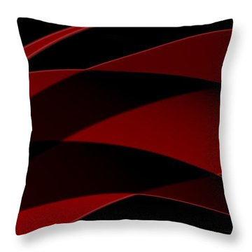 Curves Abstract 013 Throw Pillow