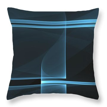 Curves Abstract 014 Throw Pillow