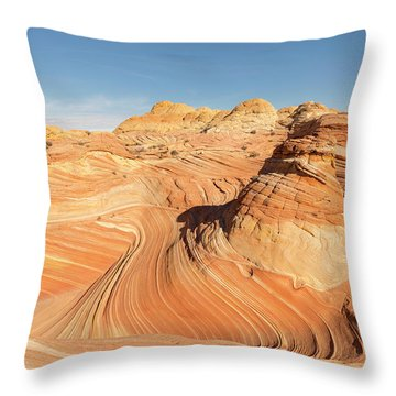 Curves Into Waves Throw Pillow by Tim Grams