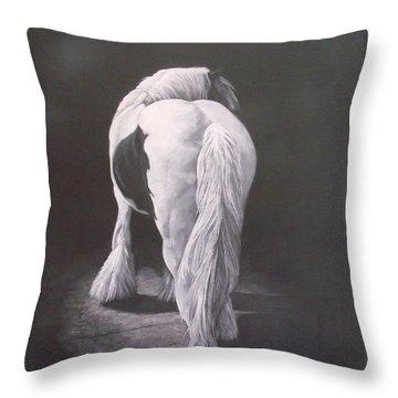 Curves-milltown Fair Throw Pillow by Pauline Sharp