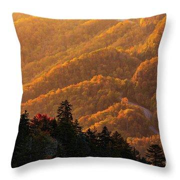 Smoky Mountain Roads Throw Pillow
