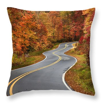 Curvy Road In The Mountains Throw Pillow