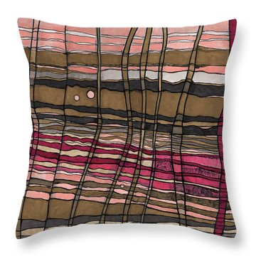 Stalks At Sunset Throw Pillow by Sandra Church