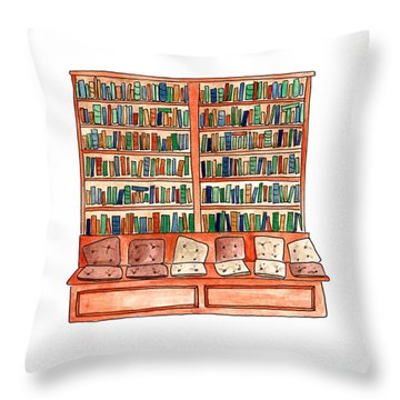Cushions Room Of Shakespeare And Company Throw Pillow
