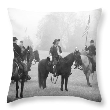 Custer At Appomattox Throw Pillow