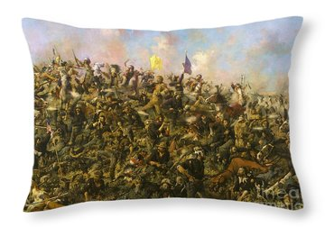 Custer's Last Stand Throw Pillow by Pg Reproductions